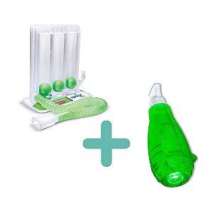 Kit Respiração 1 - Respiron Athletic 1 + Acapella Green