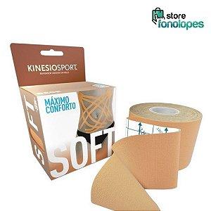 Bandagem Elástica Adesiva Kinesio  Soft KSS-002, 5cm x 5m, BEGE
