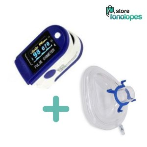 KIT Respiratório - 1 Oximetro + 1 Mascara Coxim