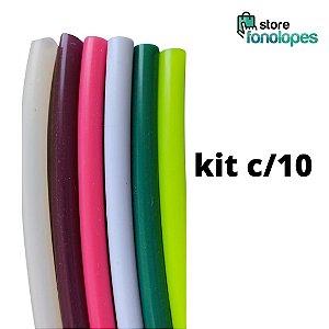 KIT C/10 - TUBO DE RESSONÂNCIA  para ETVSO Silicone - Cores Variadas / Lax Vox