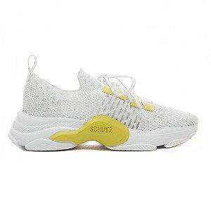 Tênis Sneaker Rush Branco & Amarelo