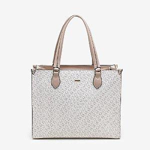 Bolsa Shopper Monograma DMD Marfim