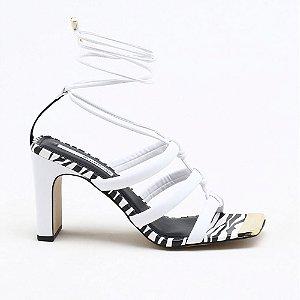 Sandália Soft Napa Zebra Branco