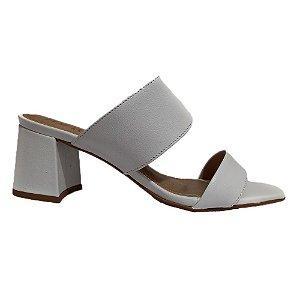 sandalia Salto Couro Miss Mohr Branco 0332