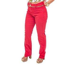 Calça Jeans Flor De Lis Vermelha 36