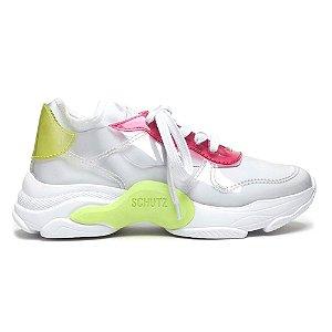 Tênis Sneaker Rush Vinil Neon Branco U36