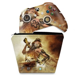 KIT Capa Case e Skin Xbox One Slim X Controle - Recore