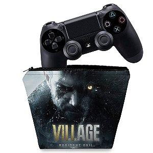 Capa PS4 Controle Case - Resident Evil Village
