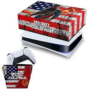 KIT PS5 Capa e Case Controle - Call Of Duty Cold War