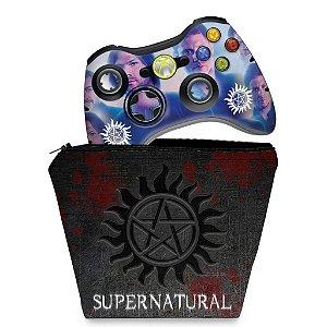 KIT Capa Case e Skin Xbox 360 Controle - Moana