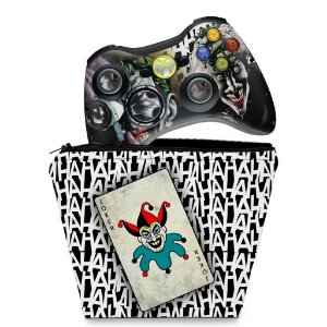 KIT Capa Case e Skin Xbox 360 Controle - Game Of Thrones #b