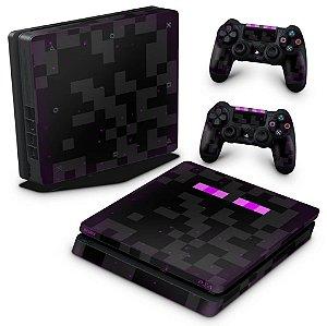PS4 Slim Skin - Minecraft Enderman