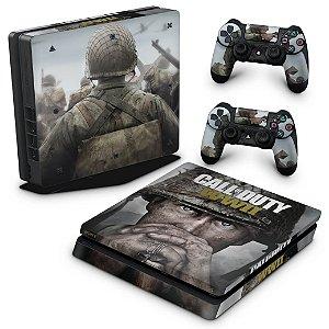 PS4 Slim Skin - Call of Duty WW2