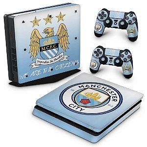 PS4 Slim Skin - Manchester City FC