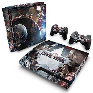 PS3 Slim Skin - Capitão America - Guerra Civil