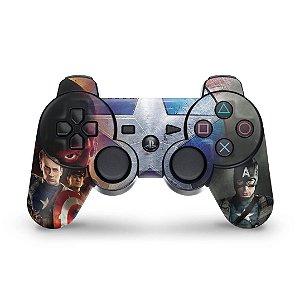PS3 Controle Skin - Capitao America