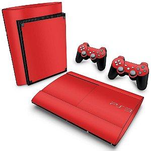 PS3 Super Slim Skin - Vermelho