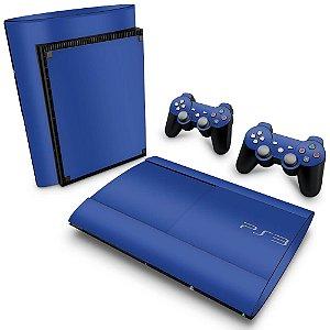 PS3 Super Slim Skin - Azul Escuro