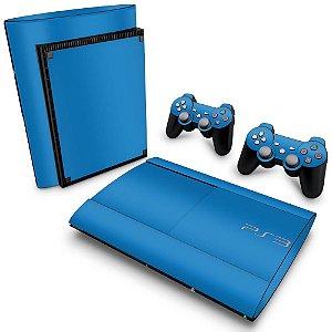 PS3 Super Slim Skin - Azul Claro