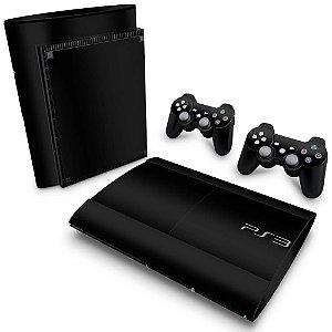 PS3 Super Slim Skin - Preto Black Piano