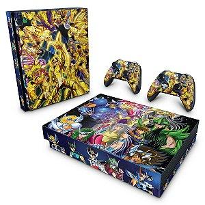 Xbox One X Skin - Cavaleiros do Zodiaco