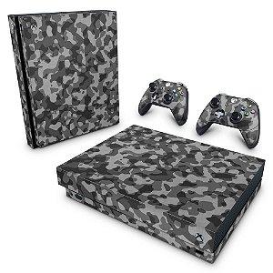 Xbox One X Skin - Camuflagem Cinza