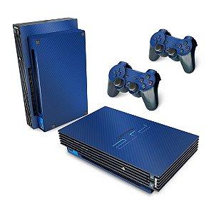 PS2 Fat Skin - Fibra de Carbono Azul