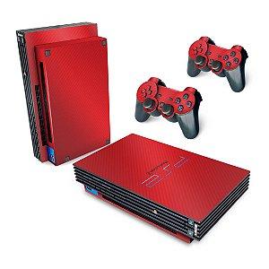 PS2 Fat Skin - Fibra de Carbono Vermelho