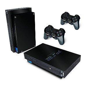 PS2 Fat Skin - Preto Black Piano