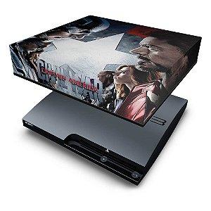 PS3 Slim Capa Anti Poeira - Capitão America Guerra