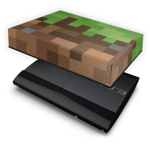 PS3 Super Slim Capa Anti Poeira - Minecraft