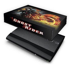 PS3 Super Slim Capa Anti Poeira - Ghost Rider Motoqueiro #a
