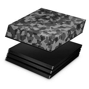 PS4 Pro Capa Anti Poeira - Camuflagem Cinza