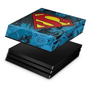 PS4 Pro Capa Anti Poeira - Super Homem Superman Comics