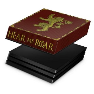 PS4 Pro Capa Anti Poeira - Game Of Thrones Lannister