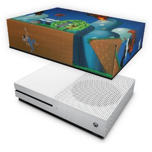 Xbox One Slim Capa Anti Poeira - Rick And Morty Mario