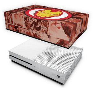Xbox One Slim Capa Anti Poeira - Homem de Ferro Comics