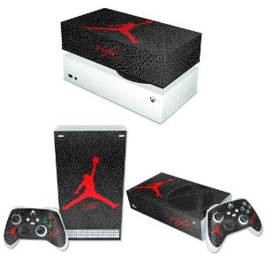 KIT Xbox Series S Skin e Capa Anti Poeira - Jordan Flight
