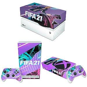 KIT Xbox Series S Skin e Capa Anti Poeira - FIFA 21