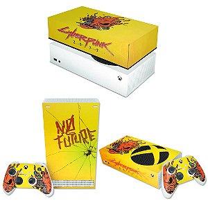 KIT Xbox Series S Skin e Capa Anti Poeira - Cyberpunk 2077