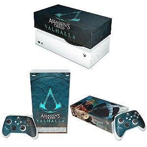 KIT Xbox Series S Skin e Capa Anti Poeira - Assassin's Creed Valhalla