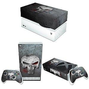 KIT Xbox Series S Skin e Capa Anti Poeira - The Punisher Justiceiro