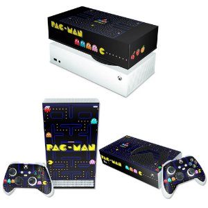KIT Xbox Series S Skin e Capa Anti Poeira - Pac Man