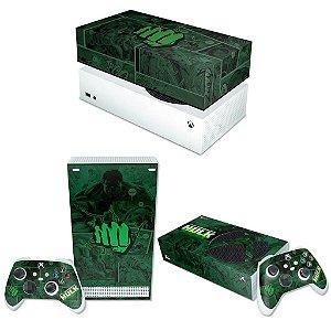 KIT Xbox Series S Skin e Capa Anti Poeira - Hulk Comics