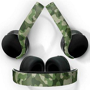 PS5 Skin Headset Pulse 3D - Camuflado Verde