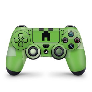 Skin PS4 Controle - Creeper Minecraft