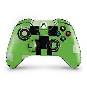 Skin Xbox One Fat Controle - Creeper Minecraft
