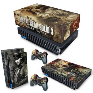 KIT PS2 Fat Skin e Capa Anti Poeira - Metal Gear Solid 3