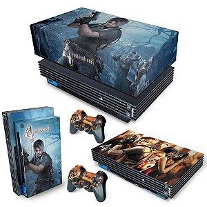 KIT PS2 Fat Skin e Capa Anti Poeira - Resident Evil 4