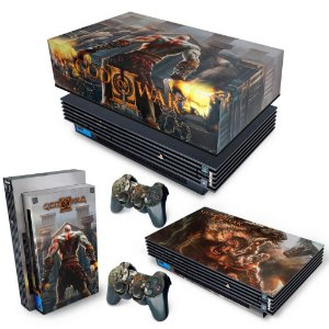 KIT PS2 Fat Skin e Capa Anti Poeira - God Of War 2 II